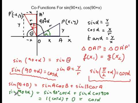 Cofunction For Sin 90 X Cos 90 X Tan 90 X Wmv Youtube