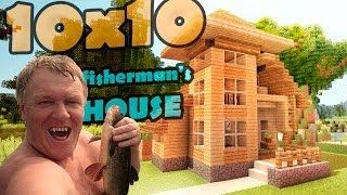 видео: Minecraft 10x10 house - дом рыбака.
