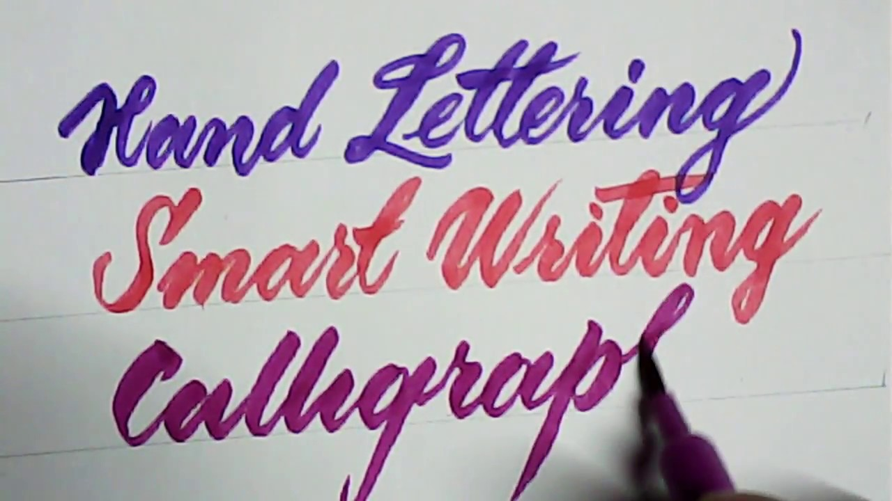 How to write calligraphy with brush pen brush pen calligraphy