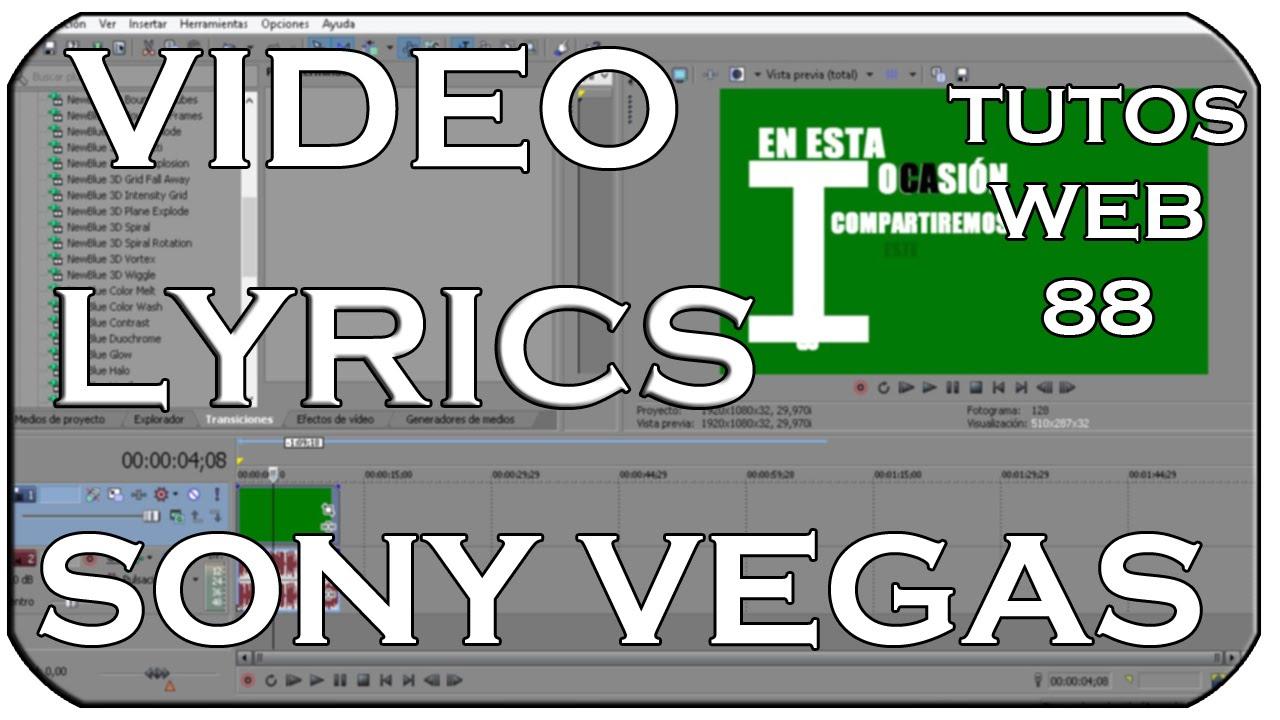 how to add lyrics sony vegas