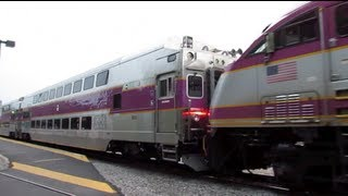 *MBTA Train with Boston Strong, Rotems & 011 in Consist