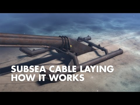 Underwater cable laying
