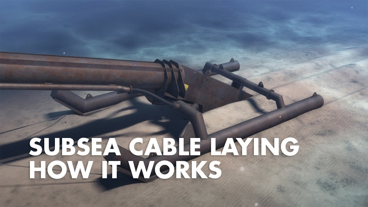 Underwater cable laying - YouTube