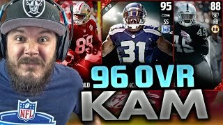 96 overall kam chancellor we got him new legends madden 17 ultimate team pack opening