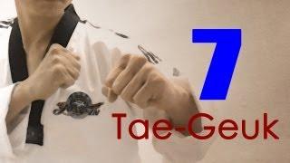 WTF Taekwondo poomsae Taegeuk 7 Jhang (taekwonwoo) 태극 7장
