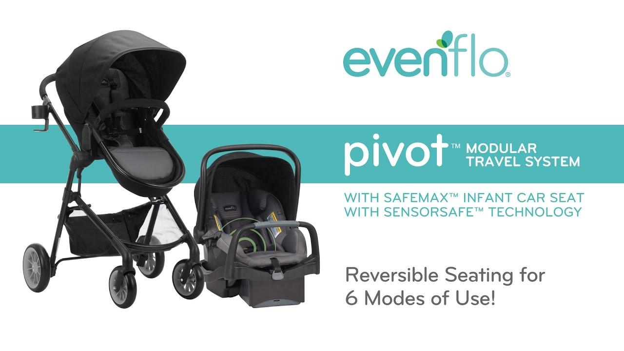 Evenflo PivotTM Modular Travel System With SensorSafeTM SafeMaxTM Infant Car Seat