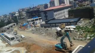 Trabzon Ortahisar Cudibey Ortaokulu ve Öğretmen Evi inşaatı