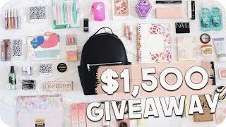Back To School Giveaway 2018! $1,500 GIVEAWAY!