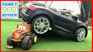 NEW Disney Cars 3 Toys - HUGE Max Tow Mater Monster Truck - What can the BIGGEST MATER Tow?