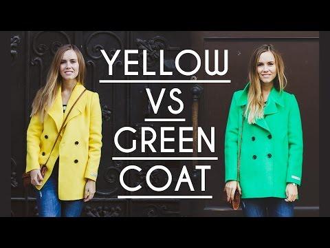Яркая одежда: желтое или зеленое пальто?