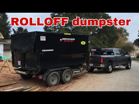 Roll off trailer loading technique / how to load a roll off dumpster