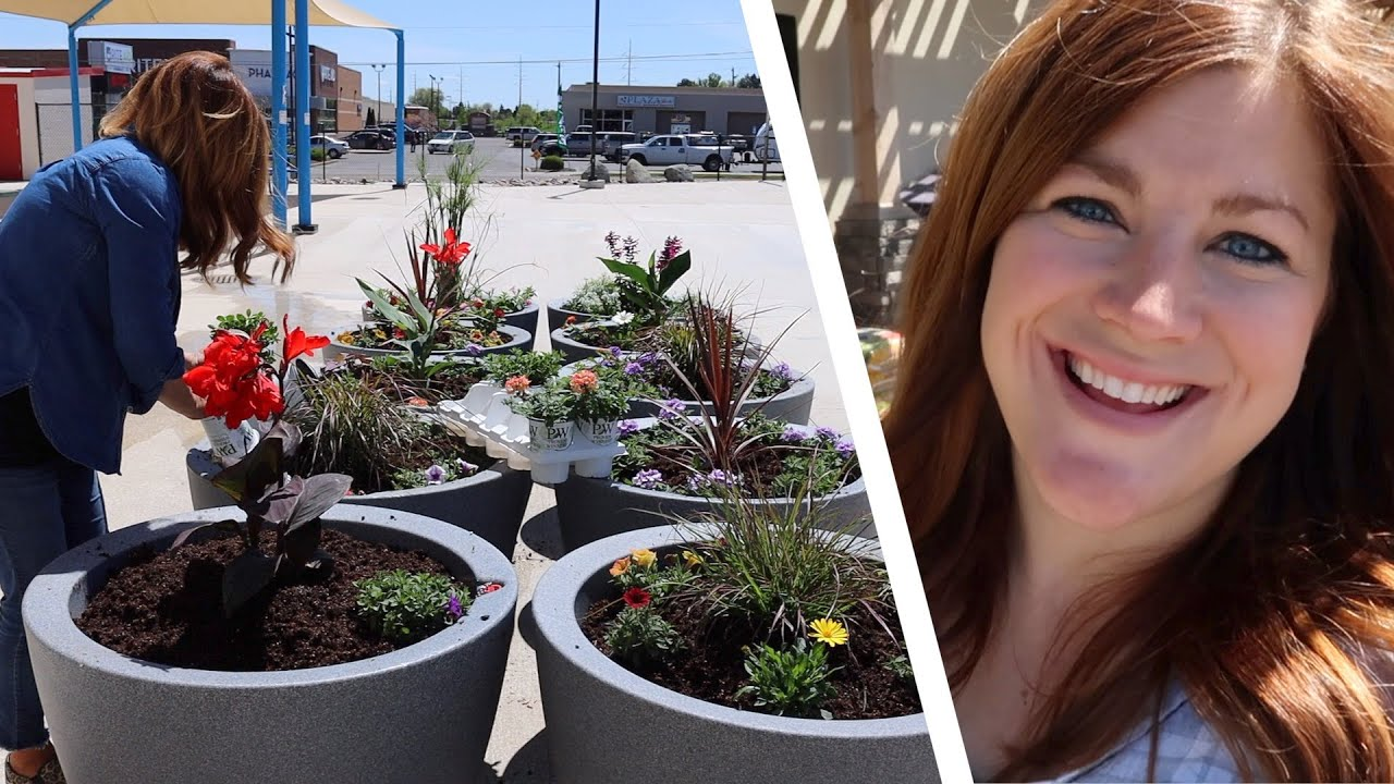 Download Planting 10 Containers at Our City's Splash Pad! 💙💦 // Garden Answer