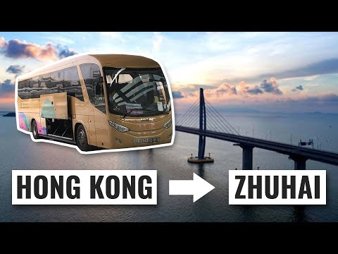 HONG KONG to ZHUHAI by BUS across the BRIDGE (How To Guide)