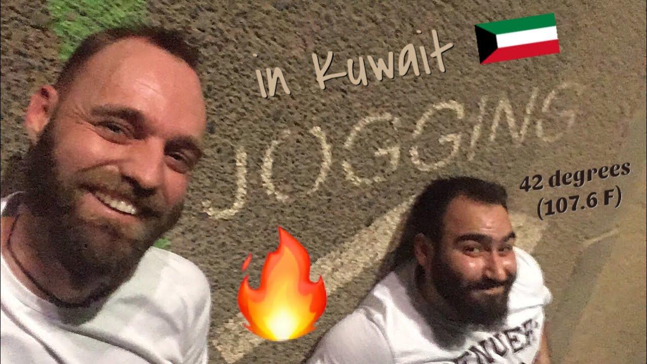 Running in 42 degrees C (107.6 F) Kuwait ❤️