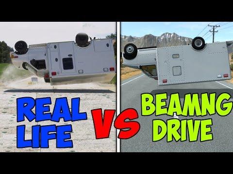 Real Life VS BeamNG Drive #2 - Crash Tests & Damage Comparison