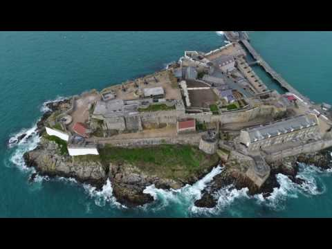 Clarence Battery, Bathing Pools, Castle Cornet - Guernsey in 4k