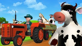 Old MacDonald Had A Farm Animal Sounds Song - Kids Songs & Nursery Rhymes For Children