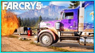 FAR CRY 5 Free Roam Gameplay - Insane Customised Truck Gameplay!