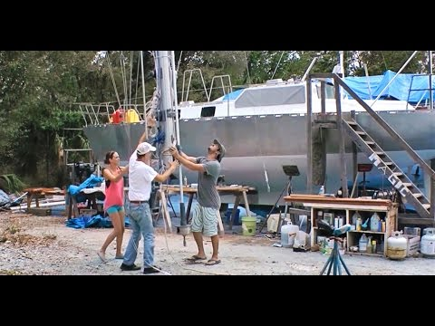 Getting the Mast Up - We're a Sailboat Again! (MJ Sailing - EP 17)