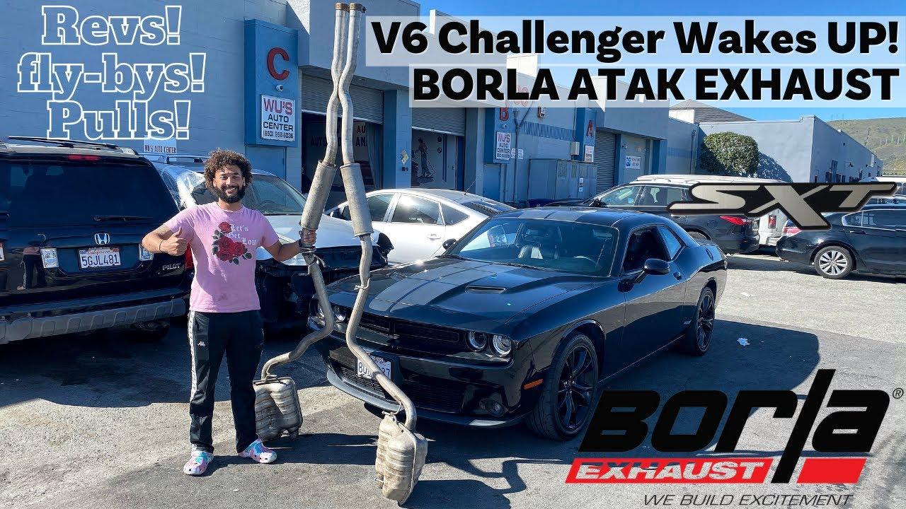 challenger v6 sxt borla atak exhaust