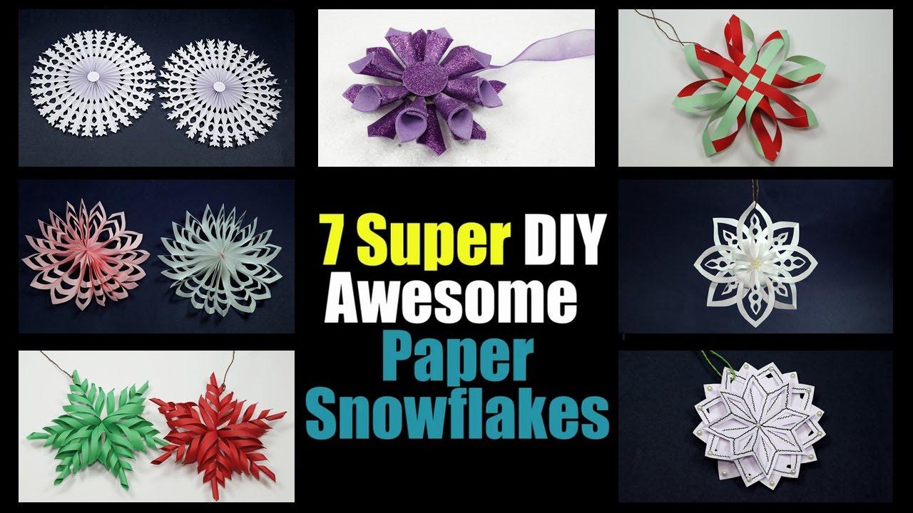 Paper Snowflakes 7 Fabulous Diy Snowflakes For Christmas