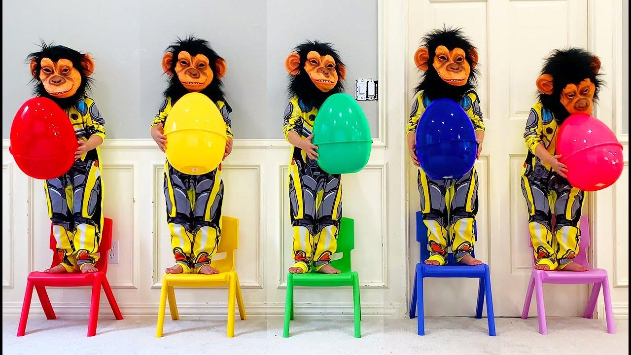 Música Cinco Macaquinhos | Chanson Cinq petits singes | Comptines Et Chansons | À Bébé Chanson 2