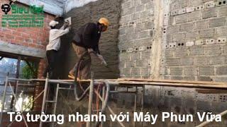 Bàn giao máy phun vữa trát tường tại Gia Lai