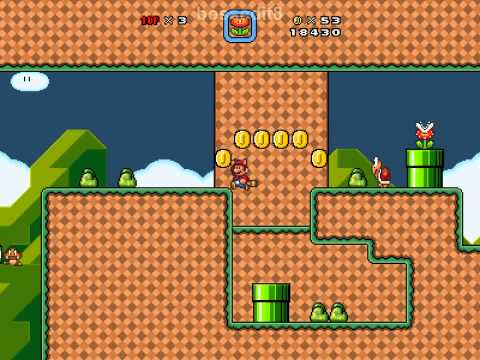 Super Mario Bros. X (SMBX) Custom Level - Tropical Grasslands