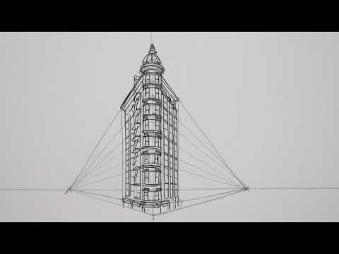 Line Art Building