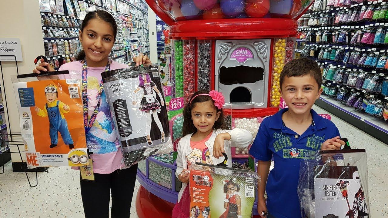 shopping for halloween customs family fun vlog
