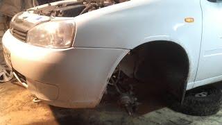 Лада Калина ремонт передней подвески замена опорников