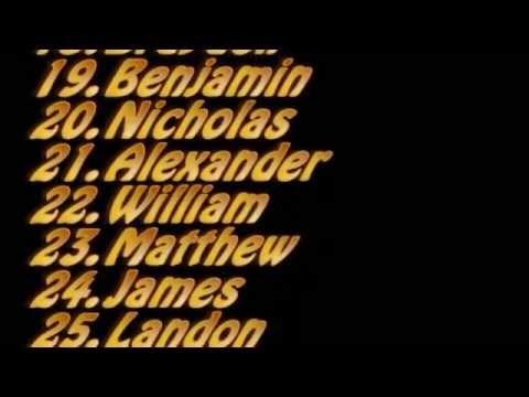 Top 100 Baby Names USA 2011 Boys