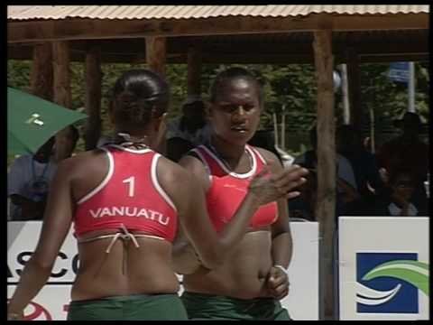 South Pacific Games 2007 Beach Volleyball Fiji vs Vanuatu F
