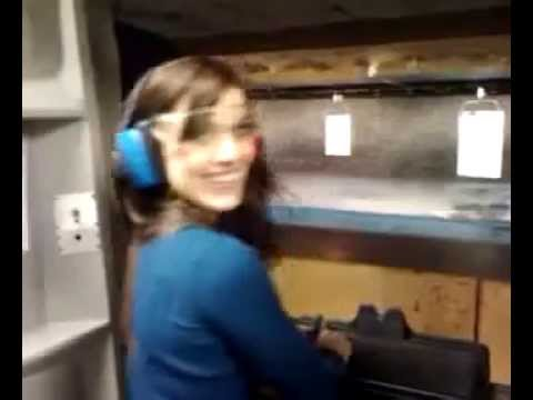 Erin Marie Hogan Takes on Zombies at the LA Gun Club with a 9mm Baretta