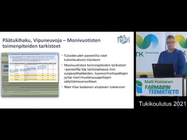 Farmarin Teematiedon tukikoulutus 2021 kuntaviranomaisen puheenvuoro