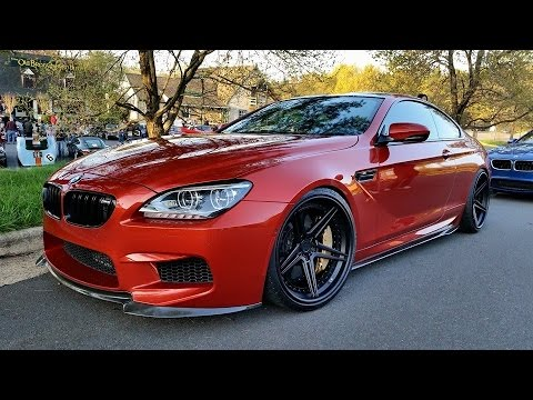 Bmw m6 gran coupe 2014 red