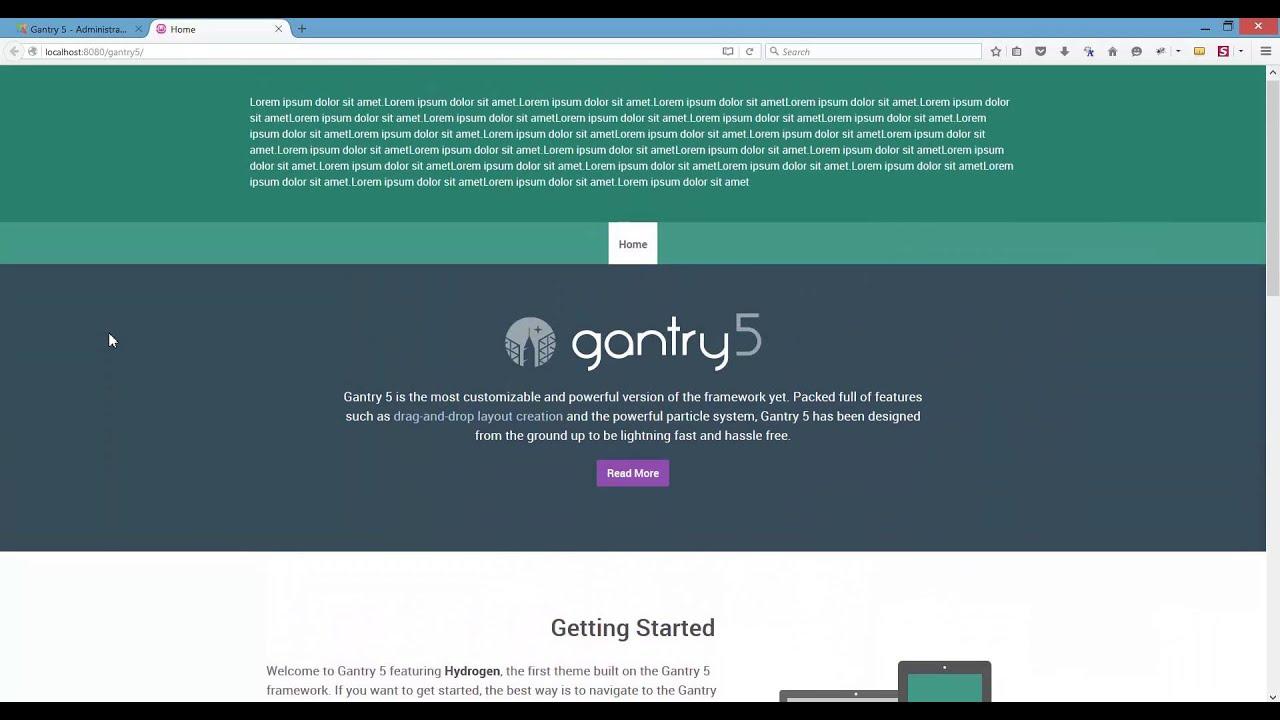 gantry 5 fixed sticky header atom youtube