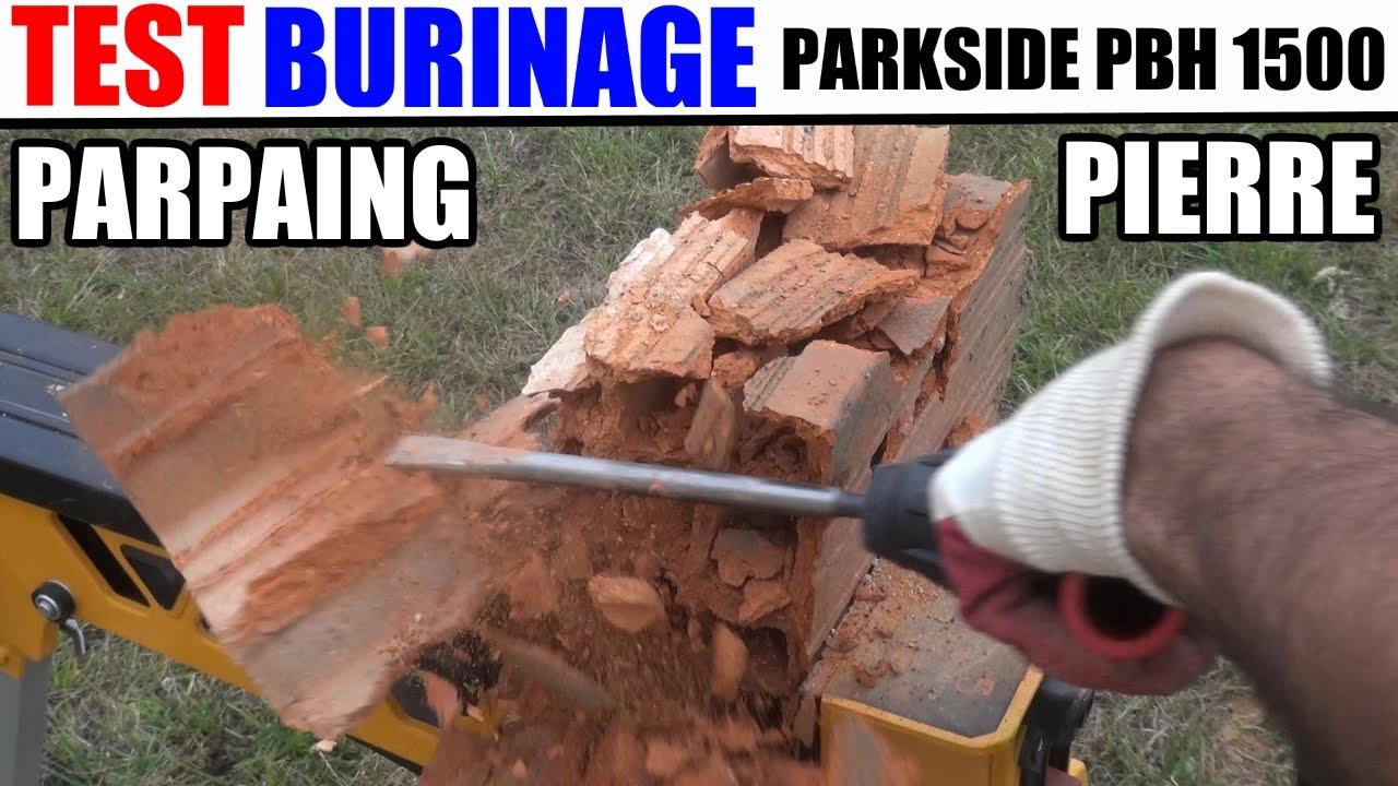 test perforateur burineur parkside pbh 1500 a1 mode burinage youtube. Black Bedroom Furniture Sets. Home Design Ideas