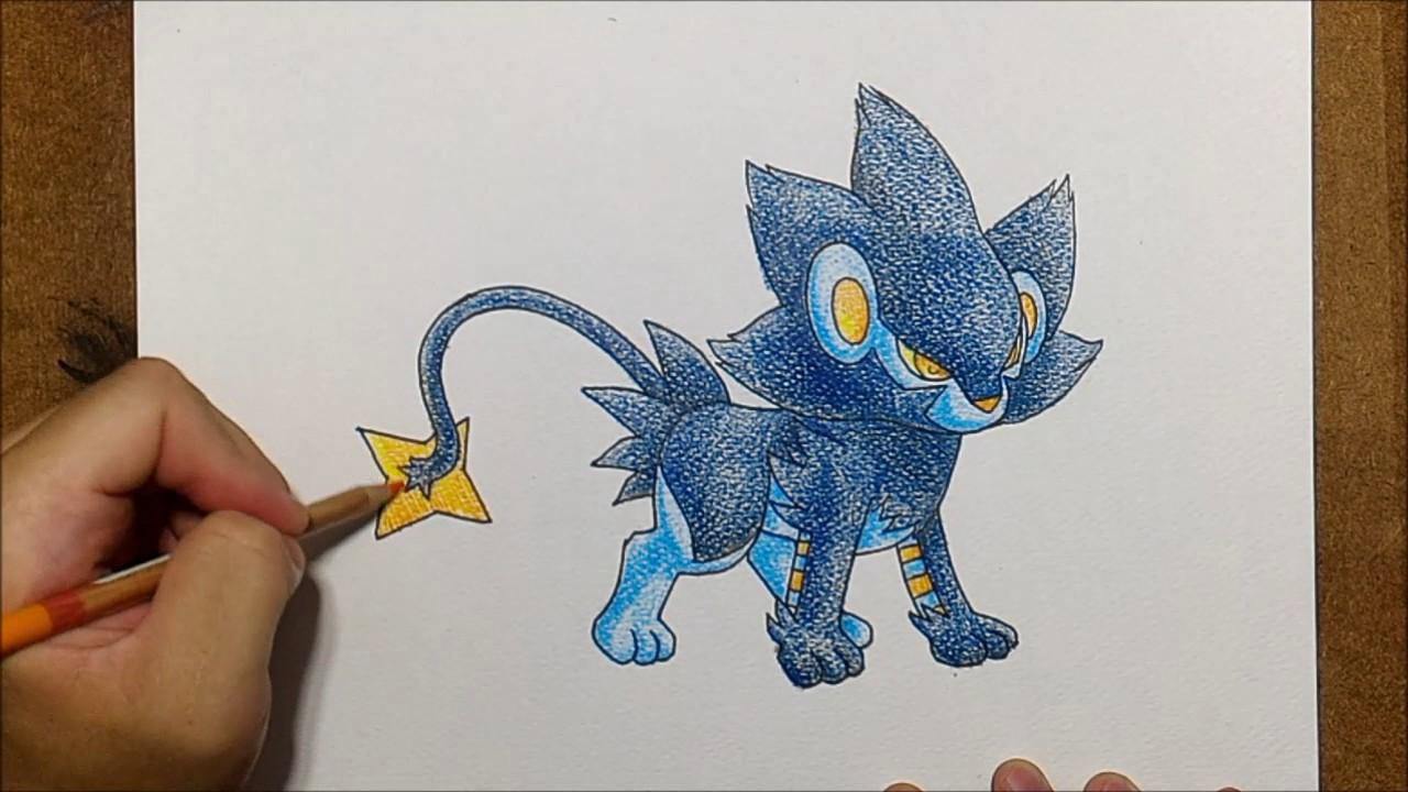 How To Draw Pokemon Luxray レントラー From Pokemon Xy Speed