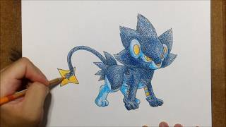 How to Draw Pokémon | Luxray (レントラー) from Pokémon XY | Speed Drawing Anime | No.020