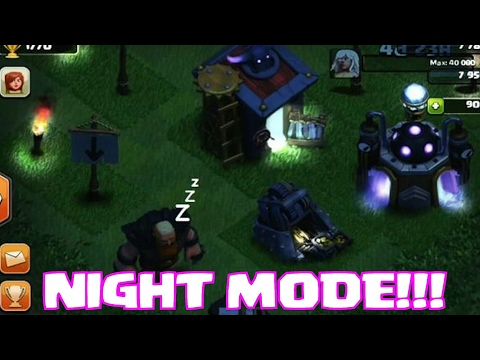 Clash of clan Night Mode and may more modes  OMG check this out Fast 😨😨😨