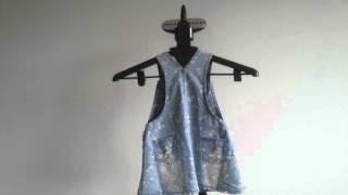 Обзор джинсовый сарафан для девочки из Китая Overview denim sundress for girls from China