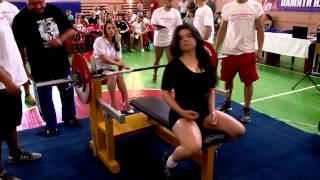 Муратова Анастасия - жим лежа 80 кг и 82,5