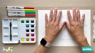 Видео урок рисования для детей от 3х лет \
