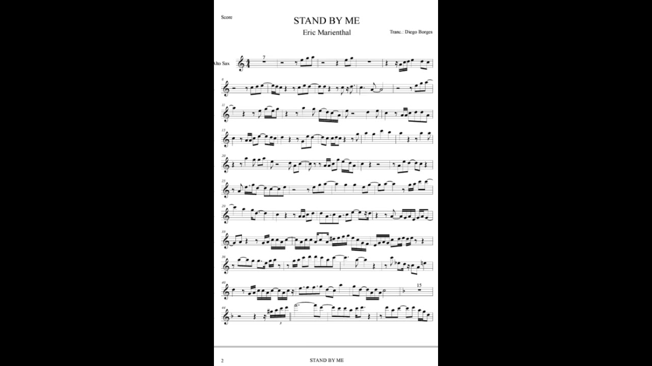 Stand By Me Eric Marienthal Youtube