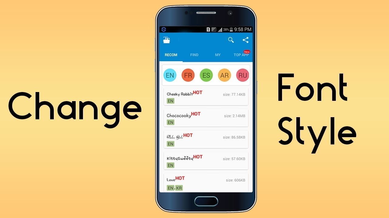 how to change font size in youtube android