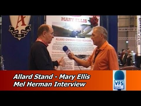 Allard Owners Club Stand   Mel Herman Interview on WW2 Heroine and Allard owner Mary Ellis