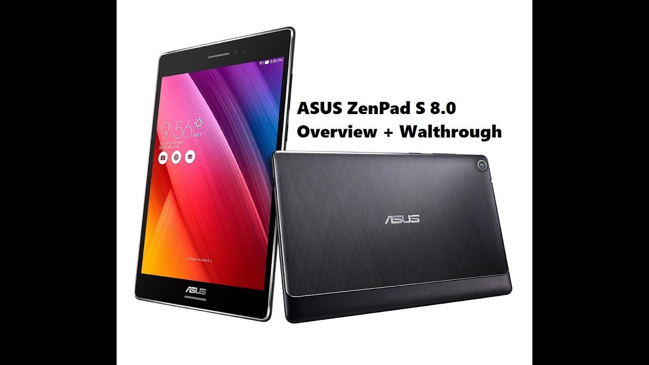 "ASUS ZenPad S 8.0"" 32GB Z580C-B1 Wi-Fi Tablet (Overview ..."