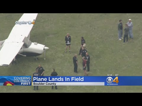 3 Escape Injury After Small Plane Lands In Field