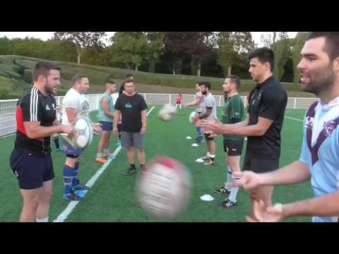 Entrainement rugby technique de passe